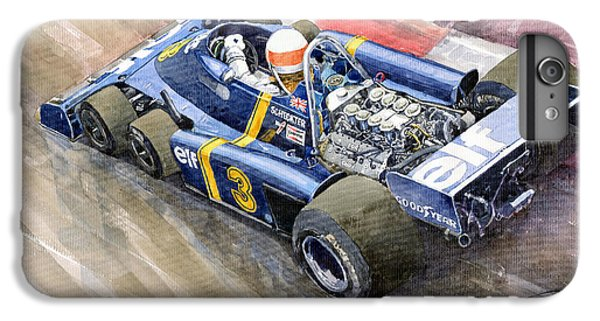 Elf iPhone 7 Plus Case - Tyrrell Ford Elf P34 F1 1976 Monaco Gp Jody Scheckter by Yuriy Shevchuk