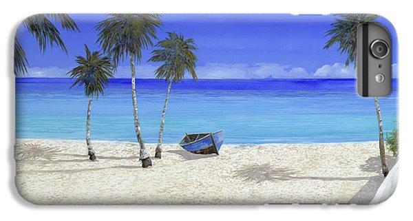 Boats iPhone 7 Plus Case - Una Barca Blu by Guido Borelli