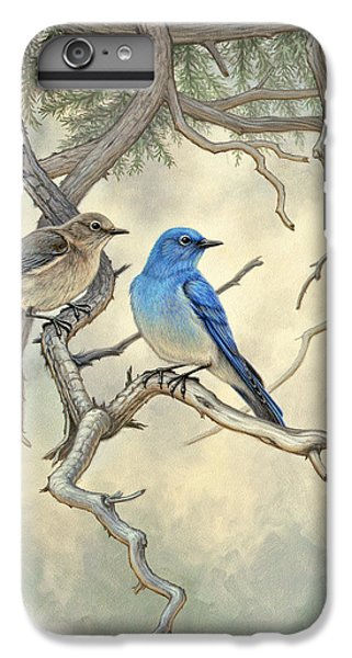 Bluebird iPhone 7 Plus Case - Under The Old Juniper-mountain Bluebirds by Paul Krapf