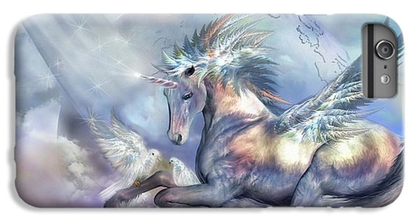 Unicorn Of Peace IPhone 7 Plus Case by Carol Cavalaris