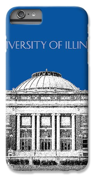 University Of Illinois Foellinger Auditorium - Royal Blue IPhone 7 Plus Case by DB Artist