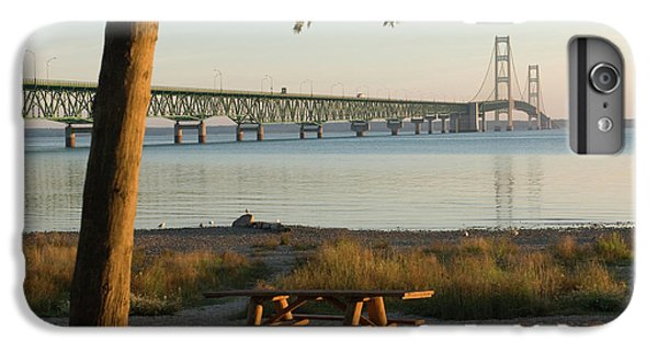 Lake Superior iPhone 7 Plus Case - Usa, Michigan, Mackinaw City, Mackinac by Peter Hawkins