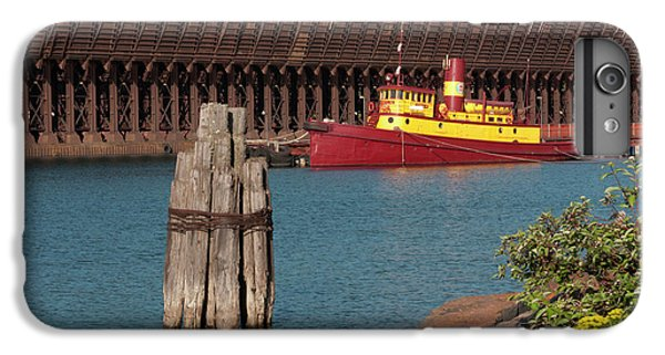 Lake Superior iPhone 7 Plus Case - Usa, Minnesota, Two Harbors, Edna G by Peter Hawkins