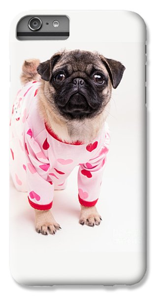 Pug iPhone 7 Plus Case - Valentine's Day - Adorable Pug Puppy In Pajamas by Edward Fielding