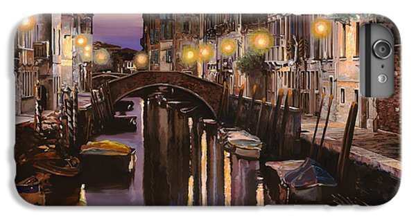 Boats iPhone 7 Plus Case - Venezia Al Crepuscolo by Guido Borelli