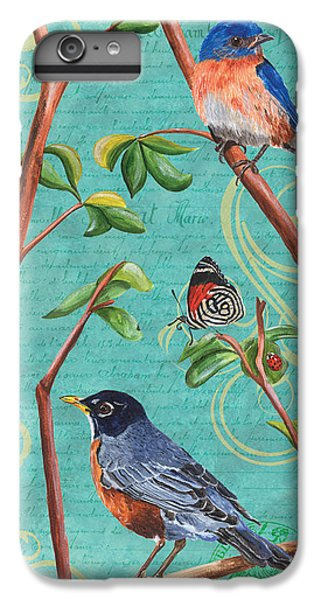 Bluebird iPhone 7 Plus Case - Verdigris Songbirds 1 by Debbie DeWitt