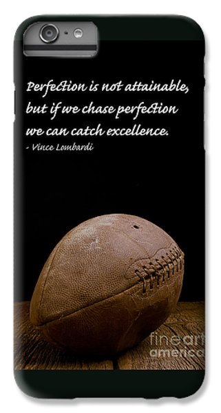Sports iPhone 7 Plus Case - Vince Lombardi On Perfection by Edward Fielding