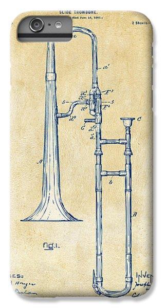 Trombone iPhone 7 Plus Case - Vintage 1902 Slide Trombone Patent Artwork by Nikki Marie Smith