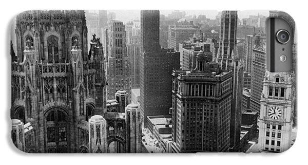 Chicago iPhone 7 Plus Case - Vintage Chicago Skyline by Horsch Gallery