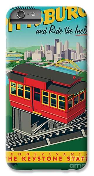 Vintage Style Pittsburgh Incline Travel Poster IPhone 7 Plus Case by Jim Zahniser
