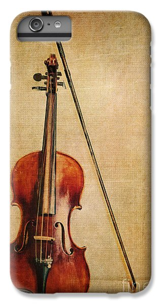Violin iPhone 7 Plus Case - Violin With Bow by Emily Kay