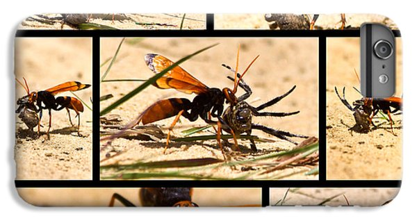 IPhone 7 Plus Case featuring the photograph Wasp And His Kill by Miroslava Jurcik
