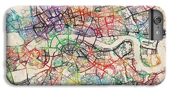 England iPhone 7 Plus Case - Watercolour Map Of London by Michael Tompsett