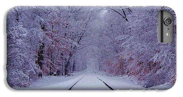 Train iPhone 7 Plus Case - Winter Rails by Greg Kear