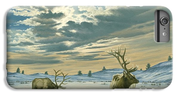 Bull iPhone 7 Plus Case - Winter Sky-elk   by Paul Krapf