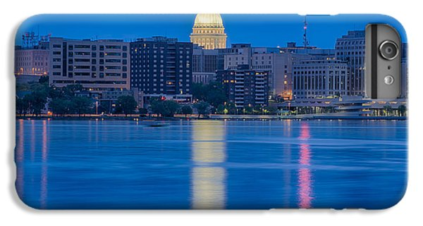 IPhone 7 Plus Case featuring the photograph Wisconsin Capitol Reflection by Sebastian Musial