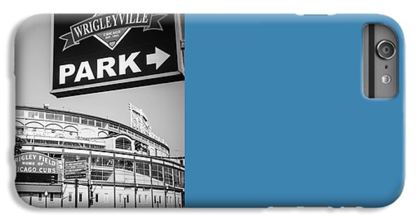 Wrigleyville Sign And Wrigley Field In Black And White IPhone 7 Plus Case by Paul Velgos