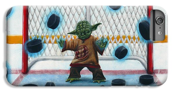 Hockey iPhone 7 Plus Case - Yoda Saves Everything by Marlon Huynh