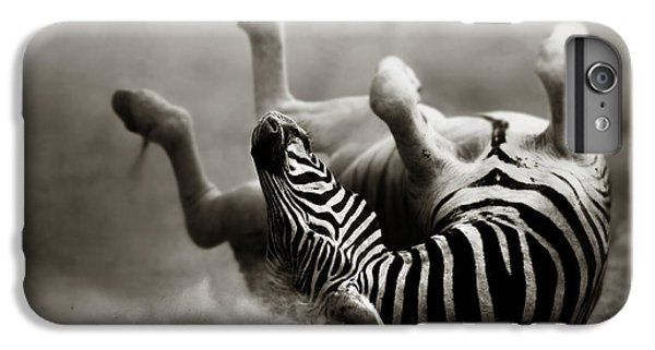 Zebra Rolling IPhone 7 Plus Case by Johan Swanepoel