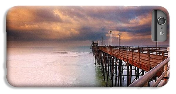 iPhone 7 Plus Case - Long Exposure Sunset At The Oceanside by Larry Marshall