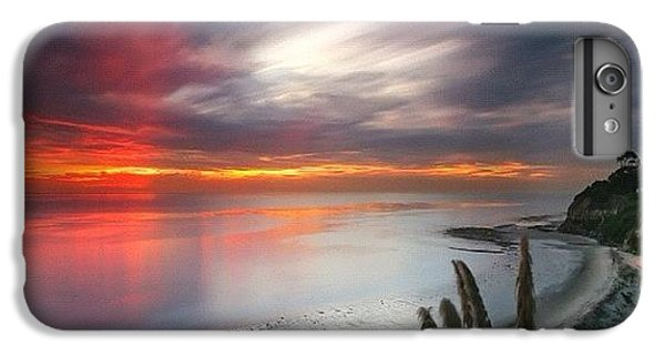 iPhone 7 Plus Case - Long Exposure Sunset At A North San by Larry Marshall
