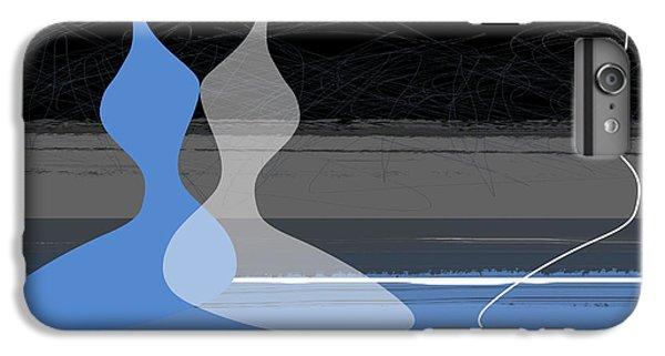 Figurative iPhone 7 Plus Case - Blue Women by Naxart Studio