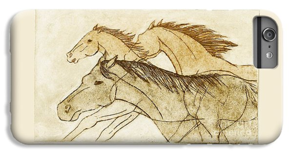 Horse Sketch IPhone 7 Plus Case by Nareeta Martin