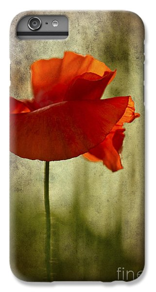 IPhone 7 Plus Case featuring the photograph Moody Poppy. by Clare Bambers - Bambers Images