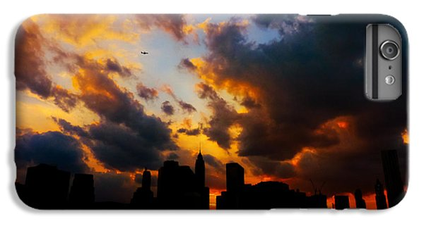 City Sunset iPhone 7 Plus Case - New York City Skyline At Sunset Under Clouds by Vivienne Gucwa