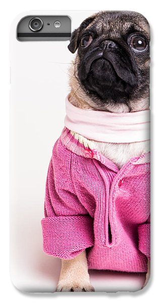 Pug iPhone 7 Plus Case - Pretty In Pink by Edward Fielding