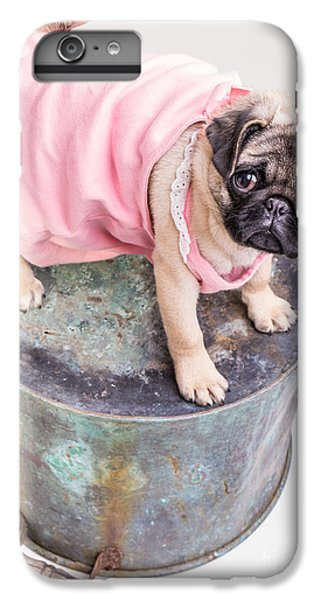 Pug iPhone 7 Plus Case - Pug Puppy Pink Sun Dress by Edward Fielding