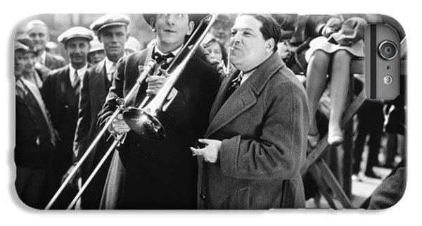 Trombone iPhone 7 Plus Case - Silent Still: Musicians by Granger