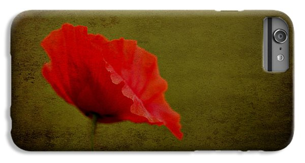 IPhone 7 Plus Case featuring the photograph Solitary Poppy. by Clare Bambers