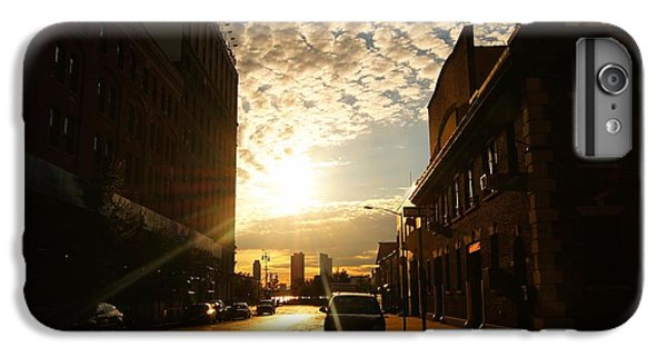 City Sunset iPhone 7 Plus Case - Summer Sunset Over A Cobblestone Street - New York City by Vivienne Gucwa
