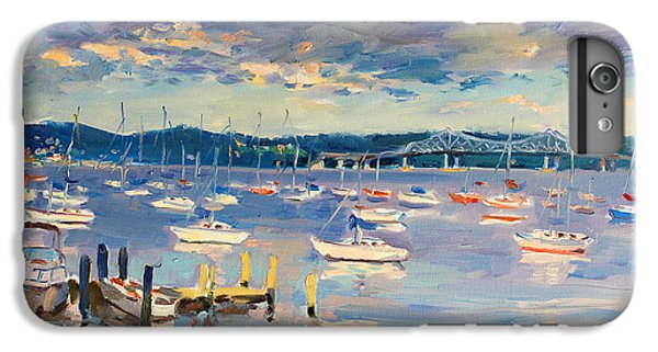 Boats iPhone 7 Plus Case - Sun And Clouds In Hudson by Ylli Haruni