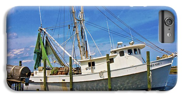 Shrimp Boats iPhone 7 Plus Case - The Harbor by Betsy Knapp