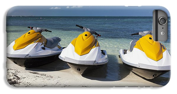 Jet Ski iPhone 7 Plus Case - Three Jet Skis On The Beach At Cancun by Bryan Mullennix