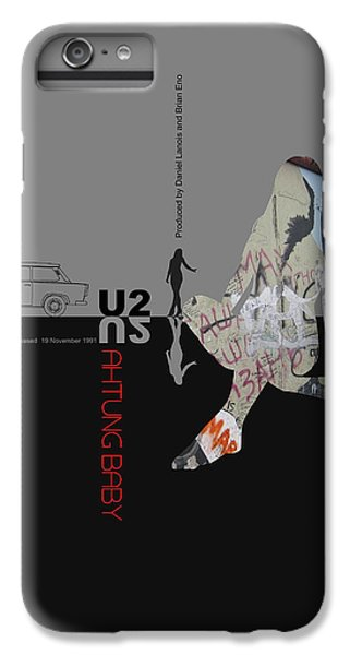 U2 iPhone 7 Plus Case - U2 Poster by Naxart Studio