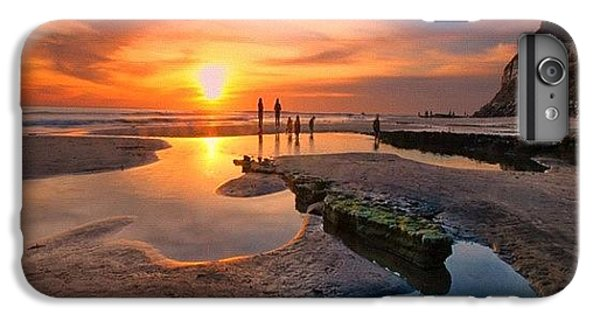 iPhone 7 Plus Case - Ultra Low Tide Sunset At A North San by Larry Marshall
