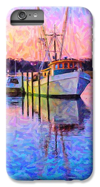 Shrimp Boats iPhone 7 Plus Case - Waiting In The Harbor by Betsy Knapp