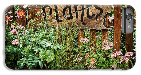 Garden iPhone 7 Plus Case - Wooden Plant Sign In Flowers by Simon Bratt Photography LRPS