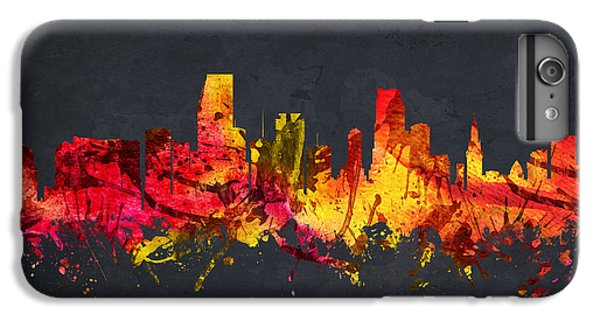 Miami Skyline iPhone 7 Plus Case -  Miami Cityscape 07 by Aged Pixel