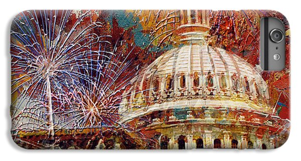 070 United States Capitol Building - Us Independence Day Celebration Fireworks IPhone 7 Plus Case