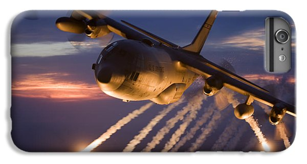 Warfare iPhone 7 Plus Case - A C-130 Hercules Releases Flares by HIGH-G Productions