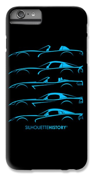 Viper iPhone 7 Plus Case - American Snakes Silhouettehistory by Gabor Vida