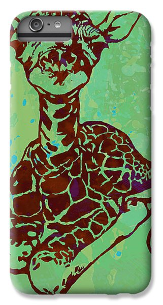 Baby Giraffe - Pop Modern Etching Art Poster IPhone 7 Plus Case by Kim Wang
