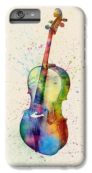 Violin iPhone 7 Plus Case - Cello Abstract Watercolor by Michael Tompsett