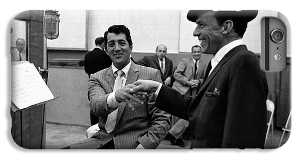 Frank Sinatra And Dean Martin At Capitol Records Studios 1958. IPhone 7 Plus Case by The Titanic Project