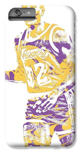 Magic Johnson iPhone 7 Plus Case - Magic Johnson Los Angeles Lakers Pixel Art 5 by Joe Hamilton