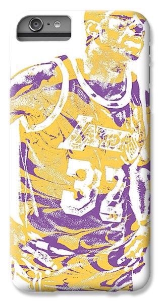 Magic Johnson iPhone 7 Plus Case - Magic Johnson Los Angeles Lakers Pixel Art 6 by Joe Hamilton